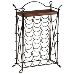 Cassina Wrought Iron Looped Feet Raw Steel Iron Wine Rack | CYAN-04923