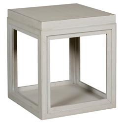 Julia Coastal Rustic Grey Box End Table
