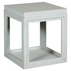 Julia Coastal Rustic Sky Blue Box End Table