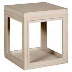 Julia Coastal Rustic Sand Box End Table