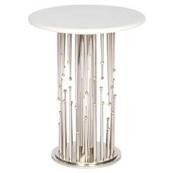 Barry Goralnick Vittorio Regency Brass Nickel Burst End Table