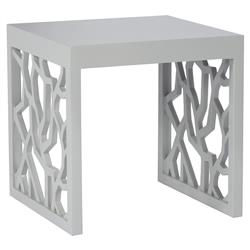 Branch Modern Smooth Grey End Table