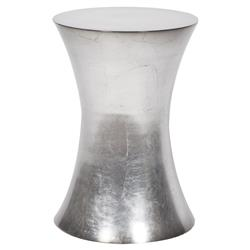 Titus Hourglass Silver Leaf End Table