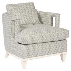 Harlee Grey Patterned Ivory Window Armchair