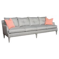 Iola Retro Modern Extended Grey Sofa
