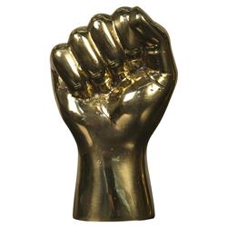 Noir The Allegiance Fist Brass Hand Sculpture