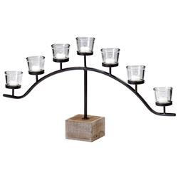 Laredo Country Rustic 7 Light Votive Centerpiece Candelabra | CYAN-04733
