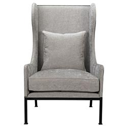Alina Loft Steel Frame Natural Beige Wing Chair