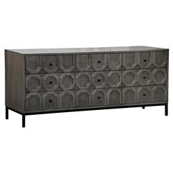 Toby Modern Classic Geometric Black Walnut Buffet