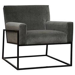Dallas Industrial Graphite Grey Steel Occasional Arm Chair