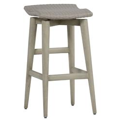 Wind Oyster Grey Wicker Outdoor Barstool