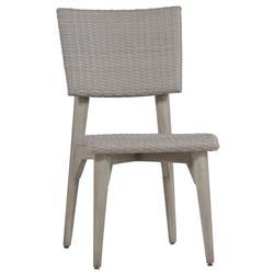 Wind Oyster Grey Wicker Outdoor Side Chair