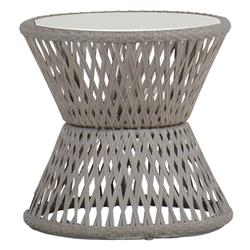 Echo Woven Grey Hourglass Outdoor End Table
