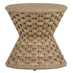 Joanna Woven Natural Resin Outdoor End Table