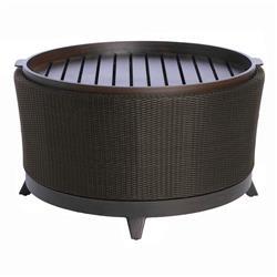 Summer Classics Halo Tray Black Walnut Wicker Outdoor Coffee Table