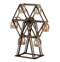 Antique Reproduction Ferris Wheel Circus Model Votive Holder Sculpture | Kathy Kuo Home