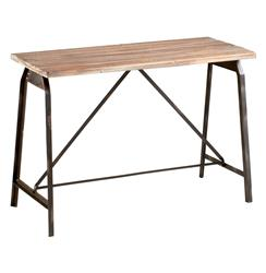 Laramie Modern Rustic Iron Solid Wood Console Table | CYAN-04976