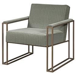 Caffrey Industrial Metal Grey Striped Armchair