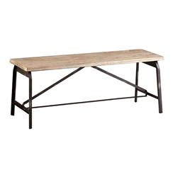 Laramie Modern Rustic Iron Solid Wood Industrial Bench | CYAN-04977