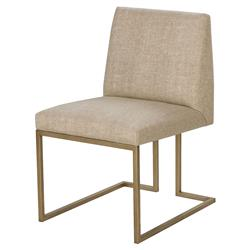 Maison 55 Ashton Mid Century Satin Brass Hemp Side Chair