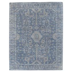 Exquisite Rugs Lubois French Country Antique Blue Wool Rug - 8x10