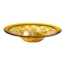 Small Catalan Amber Honey Glass Center Plate Bowl | CYAN-04231