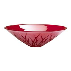 Red Modern Botanical Silhouette Large Serving Platter Bowl