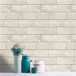 Horizontal Beige Wood Planks Rustic Lodge Removable Wallpaper