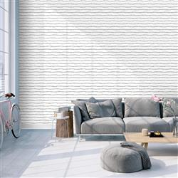 Washed on White Horizontal Stripes Removable Wallpaper