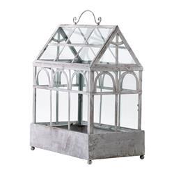 White Wash Country Cottage Rustic Indoor Decorative Plant Terrarium
