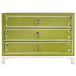 Vanguard Prosser Greek Key Regency Avocado Green Dresser