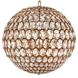 Calla Hollywood Regency Twelve Light Globe Foyer Pendant - Silver