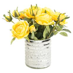 John-Richard Charleston Faux-Floral Butter Yellow Rose Bouquet