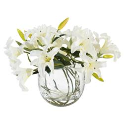Charleston Faux-Floral Creamy White Lily Bouquet