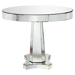Cassie Hollywood Regency Round Mirror Dining Table