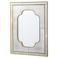 Bungalow 5 Cassia Hollywood Regency Quattrefoil Antique Mirror Wall Mirror