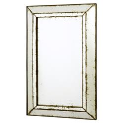 Geneve Hollywood Regency Antique Mirror Bevel Cut Wall Mirror | Kathy Kuo Home