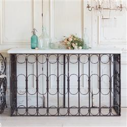 French Country Style Vintage Balcony Console: 1940 | Kathy Kuo Home
