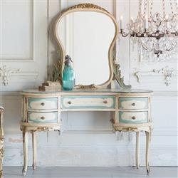 French Country Style Vintage Vanity: 1940