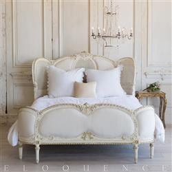 French Country Style Vintage Bed: 1940