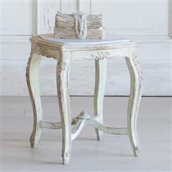French Country Style Vintage Side Table: 1940