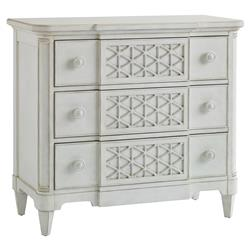 Watermill Coastal Beach Honeycomb Patterned Wood Dresser | Kathy Kuo Home