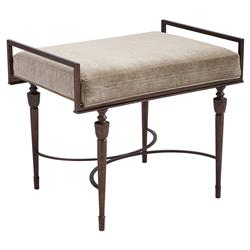 Samantha Modern Classic Wood Bed End Bench | Kathy Kuo Home