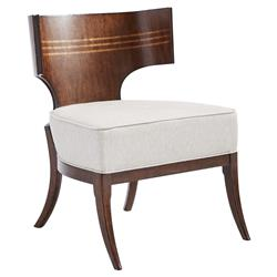 Mario Modern Classic Maple Inlay Accent Chair | Kathy Kuo Home