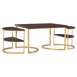 Maxwell Wood Metal Nesting Coffee Table | Kathy Kuo Home