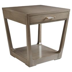Margaret Modern Classic Tapered Single Drawer End Table