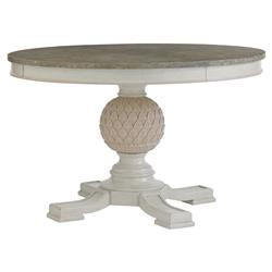 Seacliff Coastal Ivory Artichoke Pedestal Dining Table | Kathy Kuo Home