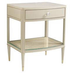 Caracole Cant Do Without You Modern Classic Metallic Taupe Nightstand