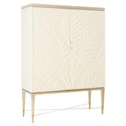 Caracole Palms Up! Hollywood Regency Crème Cabinet