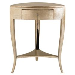 Doris Regency Silver Leaf Metallic Gold Nightstand